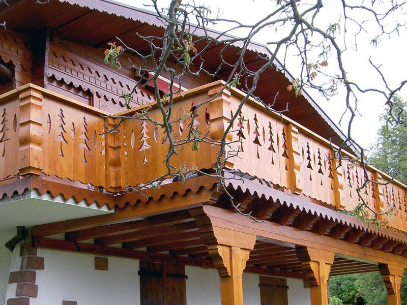 Palines de balcon travaillées - Modèle 307