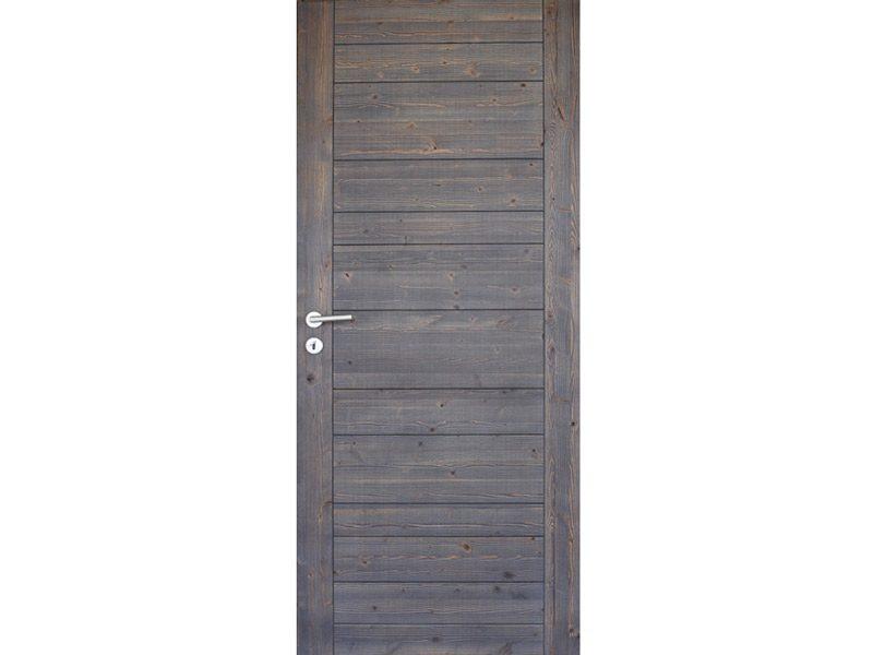 Porte Savoye en sapin vapotraité finition vieux bois