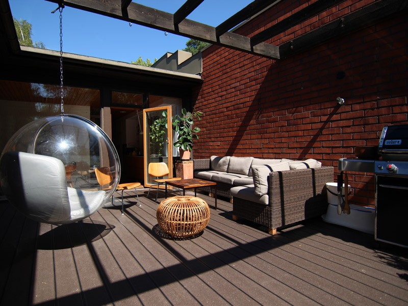 Lame de terrasse en composite UPM ProFi Deck 150 - Brun noisette (Finlande)