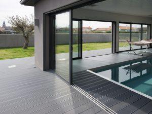 Lame de terrasse en composite UPM ProFi Deck 150 - Gris granité (France)