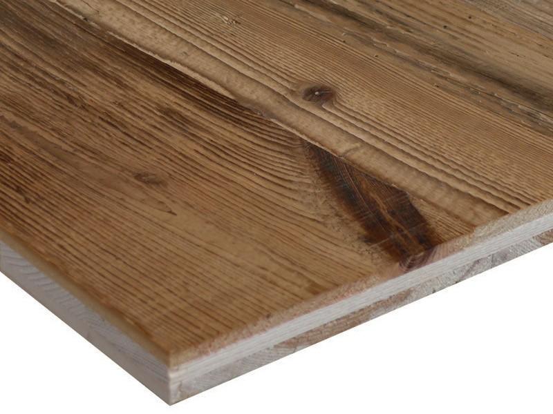 Panneau massif 3 plis en vieux bois