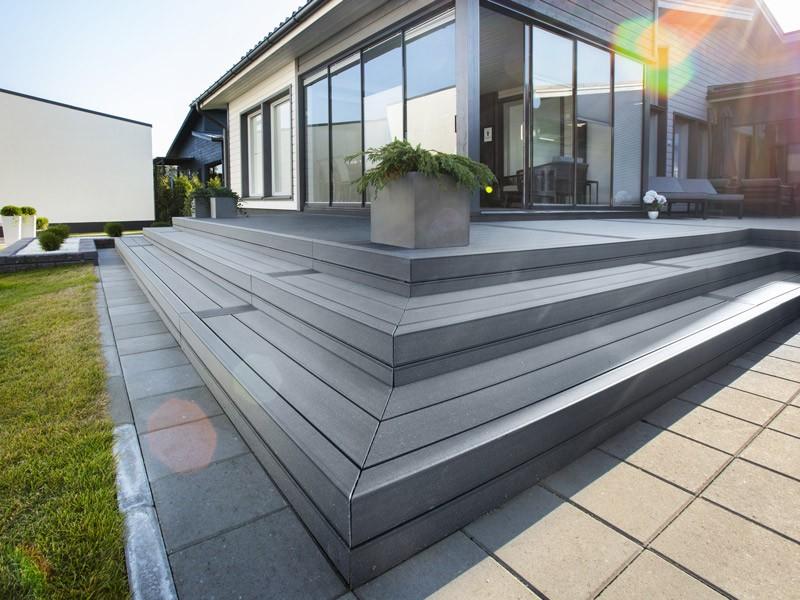 Lame de terrasse en composite UPM ProFi Deck 150 - Gris granité (Finlande)