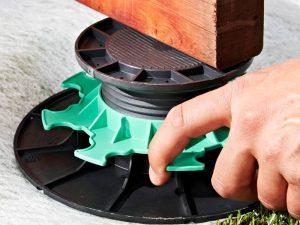 Accessoire pour terrasse bois - Plot réglable
