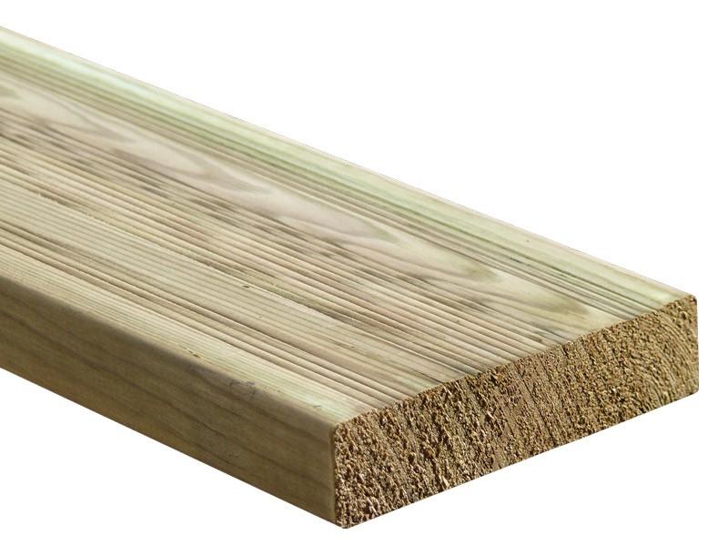 Lame de terrasse bois en pin classe 4 - Scandex vert