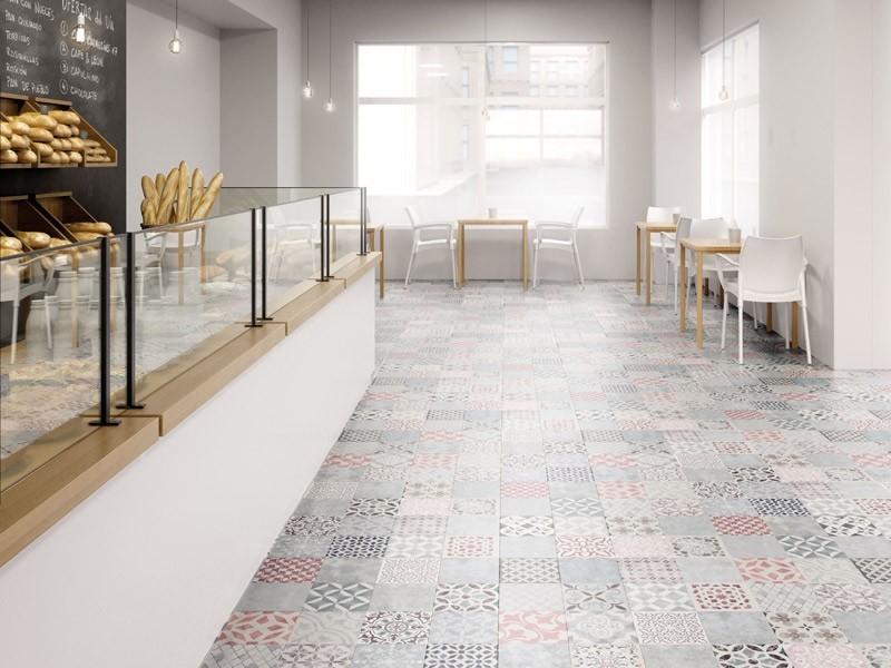 Sol stratifié - Retro - Mosaic tile