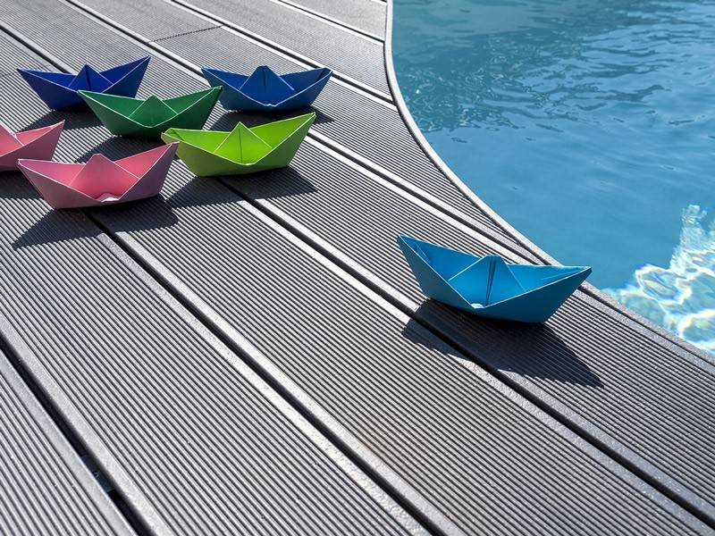 Lame de terrasse en composite UPM ProFi Deck 150 - Gris granité